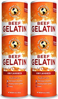 Great Lakes Pure, Beef Gelatin, 16oz 4-Pack