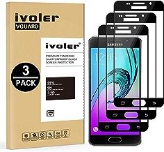 iVoler [Pack de 3] Verre Trempé Compatible avec Samsung Galaxy A5 2016, [Couverture Complète] Film Protection en Verre trempé écran Protecteur Vitre (Noir)