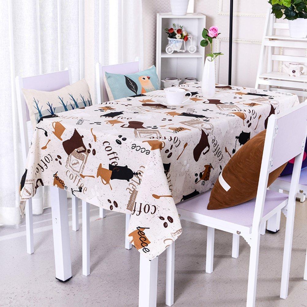 S&H Simple y moderna Ikea Mantel de lino de algodón dulce pequeño jardín de tela Manteles rectangulares Mantel cuadrado-E 140x140cm(55x55pulgadas): Amazon.es: Hogar