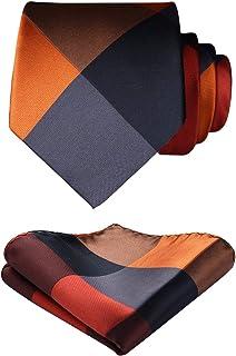 Enlision(エニション)ビジネス用 ネクタイ セット メンズ ネクタイ ポケットチーフ 結婚式 二次会 入学式 紳士用ネクタイ 洗濯可能 チェック柄 小紋柄 水玉 縞模様