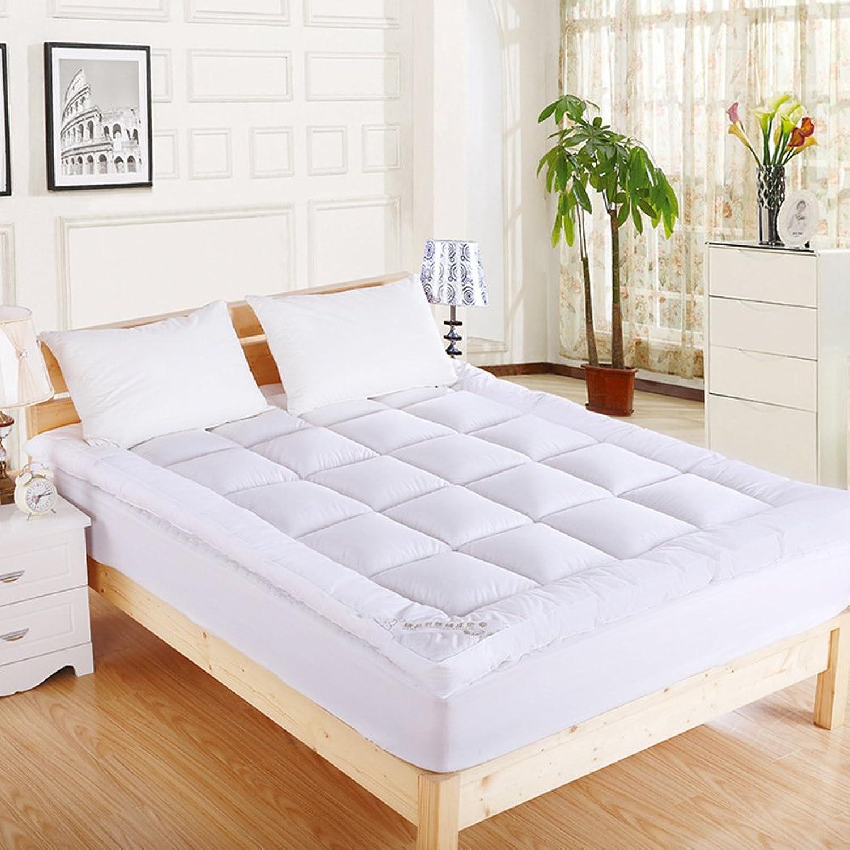 Thick Mattress,Down Foldable Sleeping Pad 12cm Portable Mattress Topper-White 90x200cm(35x79inch)
