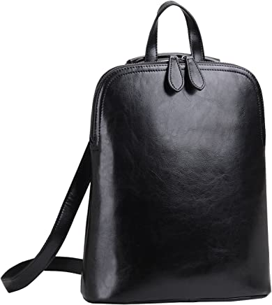Heshe Women's Leather Backpack Casual Daypack for Ladies