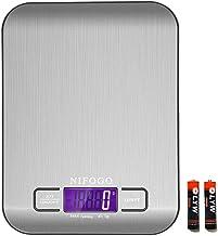 Balance Cuisine Electronique, Balance Numérique de Cuisine de Haute Précision 5kg/1g, Fonction Tare, LCD Rétroéclairé, 2 x...