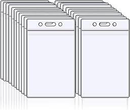 TOMYEER Transparent Vertical De Cartes De Supports Plastique /Étiquette pour Nom 50Pcs
