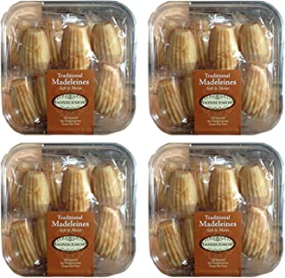 Donsuemor Traditional French Madeleines Individually Wrapped - 28 Oz. Each (Pack of 4)
