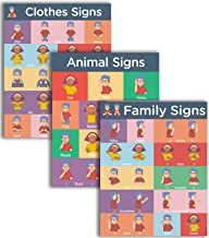 Sign Language Learning 3 Pack - Family, Clothes and Animals