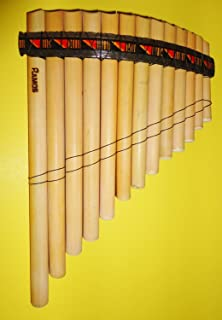 Professional Peru Treasure Standard Size Curved Antara Pan Flute 13 Pipes Case Included