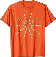 Anti Guns Slogans Reform Control Now Hashtag Orange T-shirt