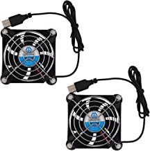 WINSINN 80mm USB Fan 5V Brushless 8025 80x25mm for Cooling DIY PC Computer Case CPU Coolers Radiators (Pack of 2Pcs)