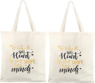 x 3 x 11 W Personalize Tote Bags for Woman\u2013Monogrammed Teacher Tote Bags for Teachers\u2013Personalize Canvas Tote Bag with Pocket H 10 L
