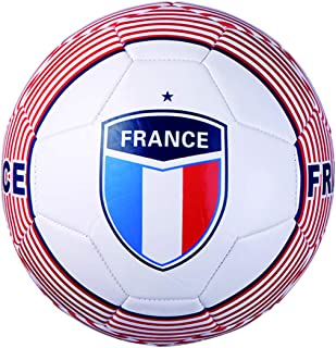 Actvivid Machine Stitch Soccer Ball with France Country Name Size: 5