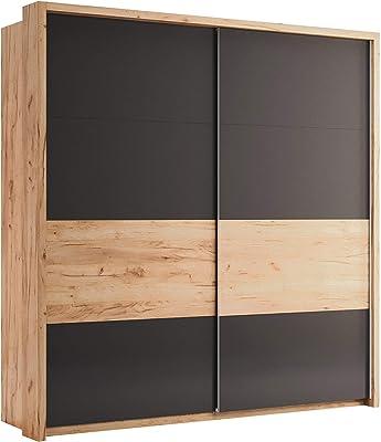 Mit Spiegel Schwebetürenschrank Ar14 Breite 220 Cm Led Beleuchtung