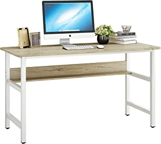 JEROAL 55 Inch Computer Desk with Bookshelf, PC Laptop...