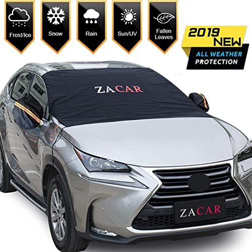 Keep Your Vehicle Exterior Frost Free Clean Most Cars//SUV Winter Ice Rain Frost Automotive Hood Covers Car Windshield Snow Cover Frost Car Windshield Snow Cover black Manba Sun Shade Protector