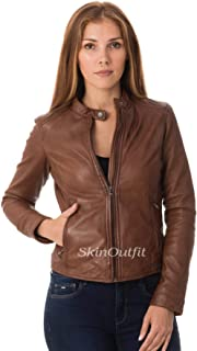 SKINOUTFIT Womens Leather Jackets Motorcycle Bomber Biker Genuine Lambskin 93