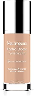 Neutrogena Hydro Boost Hydrating Tint with Hyaluronic Acid, Lightweight Water Gel Formula, Moisturizing, Oil-Free & Non-Comedogenic Liquid Foundation Makeup, 30 Buff Color, 1.0 fl. oz