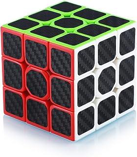 Cube de Vitesse Magique 3x3 3x3x3 Speed Cube Magic Cube Fibre de Carbone Autocollant Cadeau de Vacances pour Enfants Adult...
