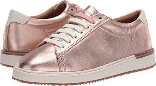 Rose Gold Metallic Leather