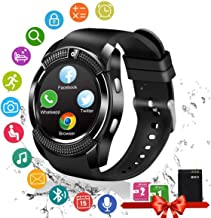 Smart Watch, Bluetooth Smartwatch Touch Screen Wrist Watch with Camera/SIM Card Slot,Waterproof Smart Watch Android Phone Watch for iOS Android Phones Samsung Huawei