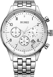 Men's Multifunction Chronograph Wrist Watch Stainless Steel Bracelet Sapphire