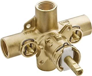 MOEN 2590 M-Pact Rough-In PosiTemp Pressure Balancing Cycling Shower Valve with Stops, 1/2-Inch IPS, 0.5, or or Unfinished (Renewed)