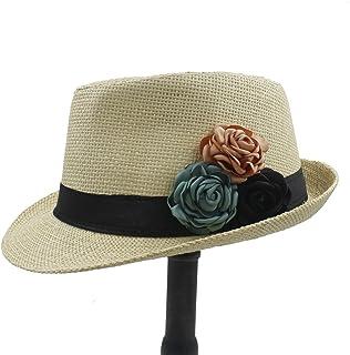 Toquilla Straw Hat Fashion Women Boater Beach Sun Hat For Elegant Lady Summer Chapeu Feminino Panama Fedora Hat With Camel...