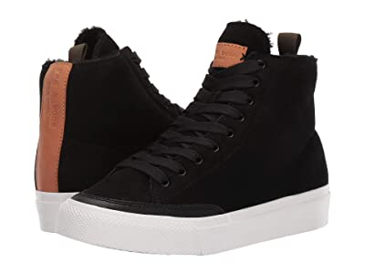 rag & bone RB High Top Sneaker (Black Shearling) Women