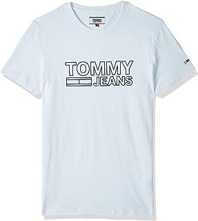 تي شيرت رجالي من Tommy Jeans عليه شعار TJM Contoured Corp (كلاسيكي 100)، مقاس متوسط