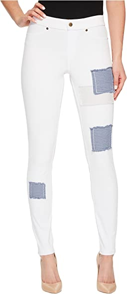 HUE Patched Denim Leggings
