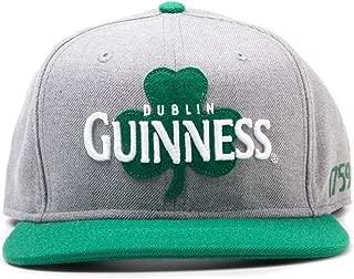 Guinness Dublin Shamrock Snapback Baseball Cap (Grey/ Green)