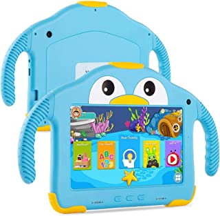 UCMDA Kids Tablet - 7 inch Toddler Tablet for Kids W/Penguin Case, Android 10.0, 32GB ROM, WIFI Dual Camera, 3500mah Capac...
