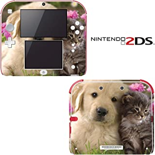 Puppy Kitty Friends Decorative Video Game Decal Cover Skin Protector for Nintendo 2Ds