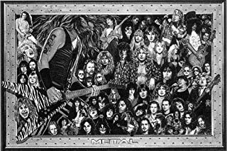 Picture Peddler Laminated Heavy Metal Bands - Collage Music Poster 24x36 inch