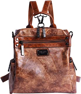 Mini Backpack Purse for Women - AB Earth Convertible Waterproof Rucksack Faux Leather Backpack for Ladies Shoulder Bags, H003