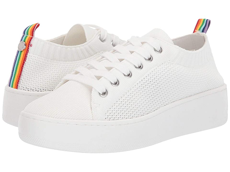 05051e50b7a Steve Madden Bardo Sneaker (White Multi) Women s Lace up casual Shoes
