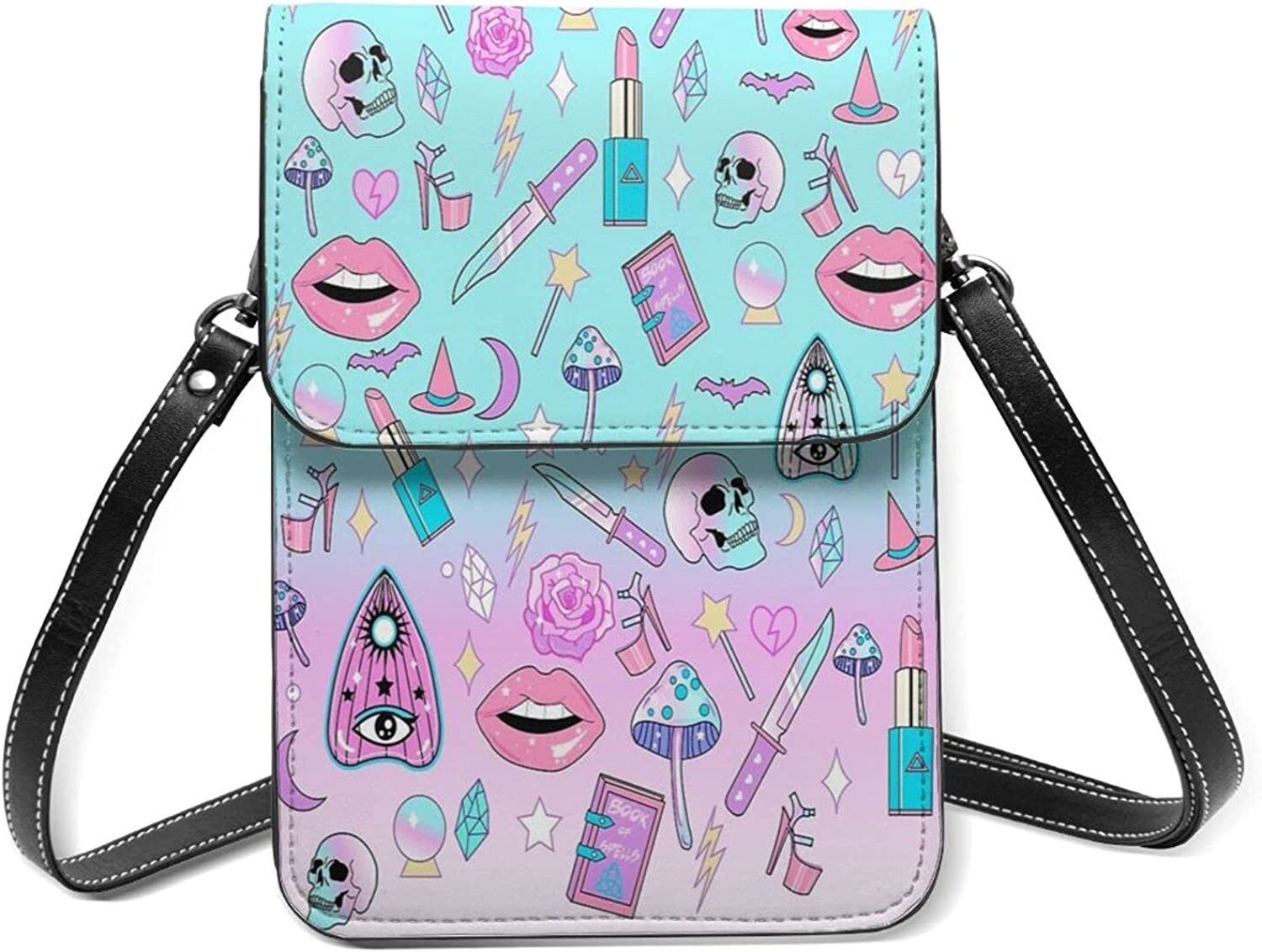 Cosmetic Skull Small Cell Import Kansas City Mall Phone Flip Purse Shou With Lightweight