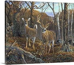 Oak Ridge Trophy Deer Canvas Wall Art Print, 24