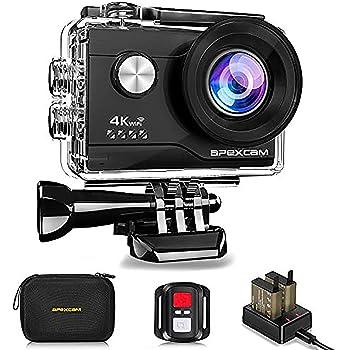 【進化版】Apexcam アクションカメラ 4K高画質 2000万画素 SONYセンサー WiFi搭載 40M防水[メーカー1年保証] 1050mAhバッテリー リモコン付き 防水バッグ付き 2インチ液晶画面 HDMI出力 アクセサリーセット付き スポーツカメラ ウェアラブルカメラ 水中カメラ 防犯カメラ 対角170度広角レンズ