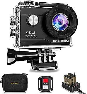 【進化版】Apexcam アクションカメラ 4K高画質 2000万画素 SONYセンサー WiFi搭載 40M防水[メーカー1年保証] 1050mAhバッテリー リモコン付き 防水バッグ付き 2インチ液晶画面 HDMI出力 アクセサリーセット...