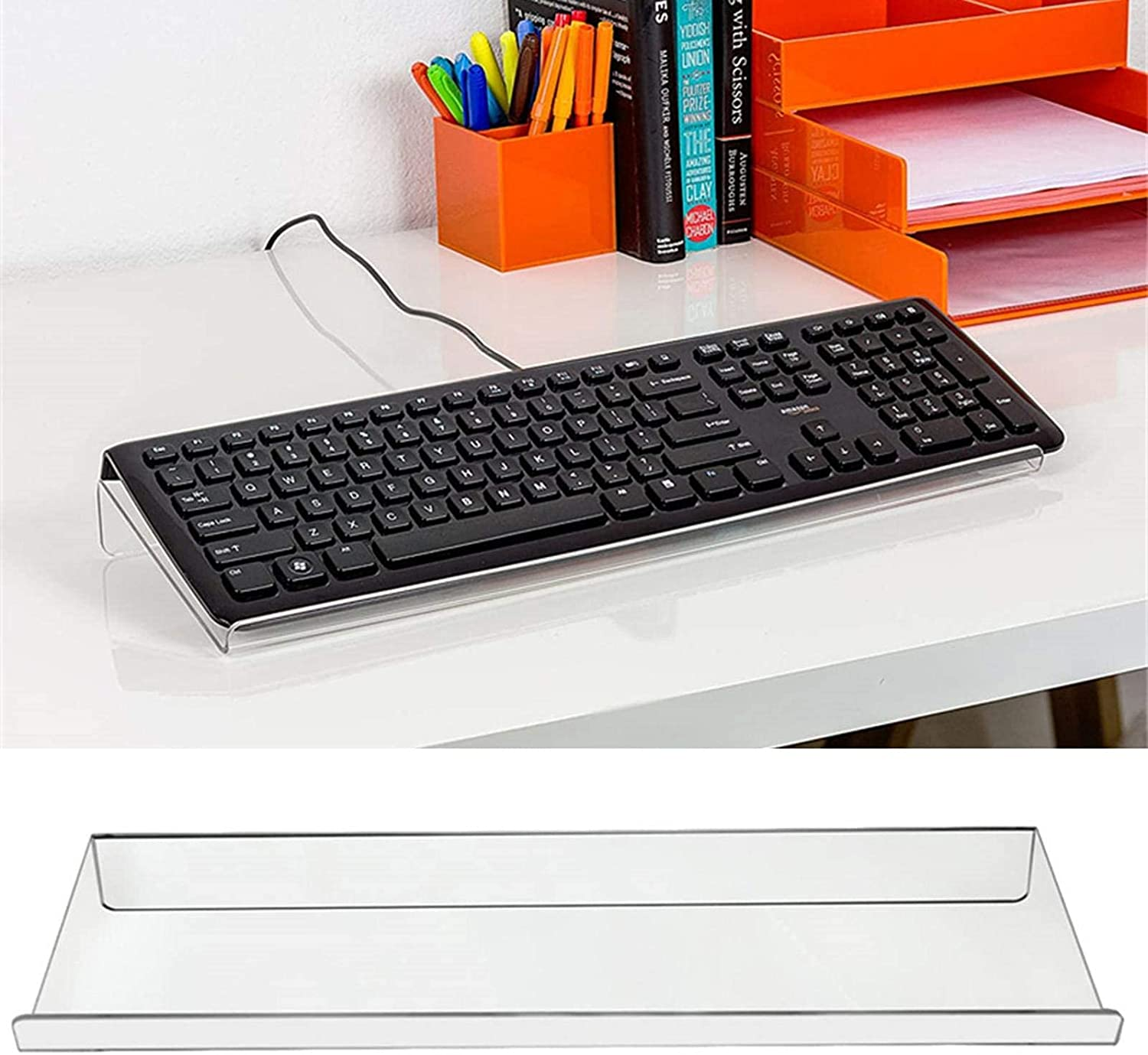 LIXINGX Product Clear Our shop OFFers the best service Acrylic Tilted Computer Keyboard Holder PC Keyboar