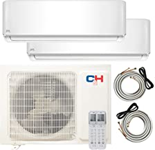 COOPER AND HUNTER Multi Zone Dual 2 Zone 12000 12000 Ductless Mini Split Air Conditioner Heat Pump Full Set WiFi Ready Energy Star
