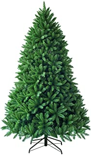 Goplus 6ft Unlit Artificial Christmas Tree, Premium Hinged Fir Tree, Easy Assembly with Metal Stand, Xmas Décor for Indoor and Outdoor
