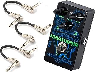 Catalinbread Naga Viper Treble Boost Pedal w/ 3 Guitar Cables