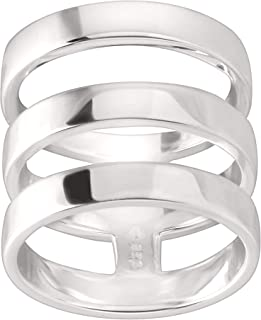 Contemporary Art' Triple-Bar Ring in Sterling Silver