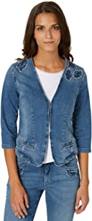 Bonita Jeansjacke Uni Blazer Donna Langarm