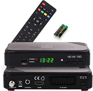 Opticum HD AX 150 Ricevitore Satellitare DVB-S2 con PVR, Nero