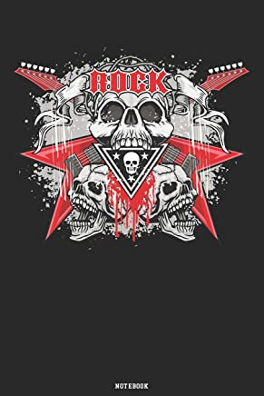 Rock Notebook: Heavy Rock Music Journal Guitar Death Skull composition book Birthday Gift