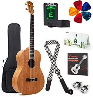 Kmise Baritone Ukulele Mahogany 30 inch Ukelele Uke for Adult Beginner 4 String Guitar Kit w/Gig Bag Clip-On Tuner Strap P...