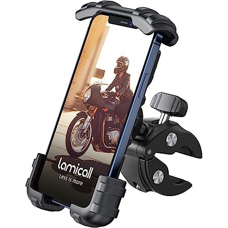Lamicall Supporto Telefono Bicicletta, Metallico Supporto Motociclo - Manubrio Supporto Cellulare per iPhone 12 Pro, 12 Mini, 11 Pro, Xs Max, X, 8, 7, 6, Samsung S10 S9 S8, 4.7-6.8 Pollici Smartphones