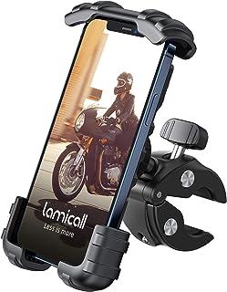 Lamicall Soporte Movil Bicicleta, Soporte Motocicleta - Rotación 360° Soporte Manillar para iPhone 12 Pro Max, 12 Mini, 11...